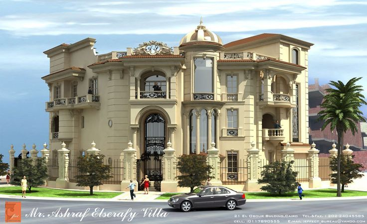 Classic villa exterior design google for Best villa design
