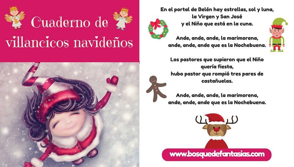Descárgate Ya Nuestro Cuadernillo De Villancicos De Navidad Con Las Canciones Más Populares Para Niños De I Villancico Cancion De Navidad Villancicos Navideños