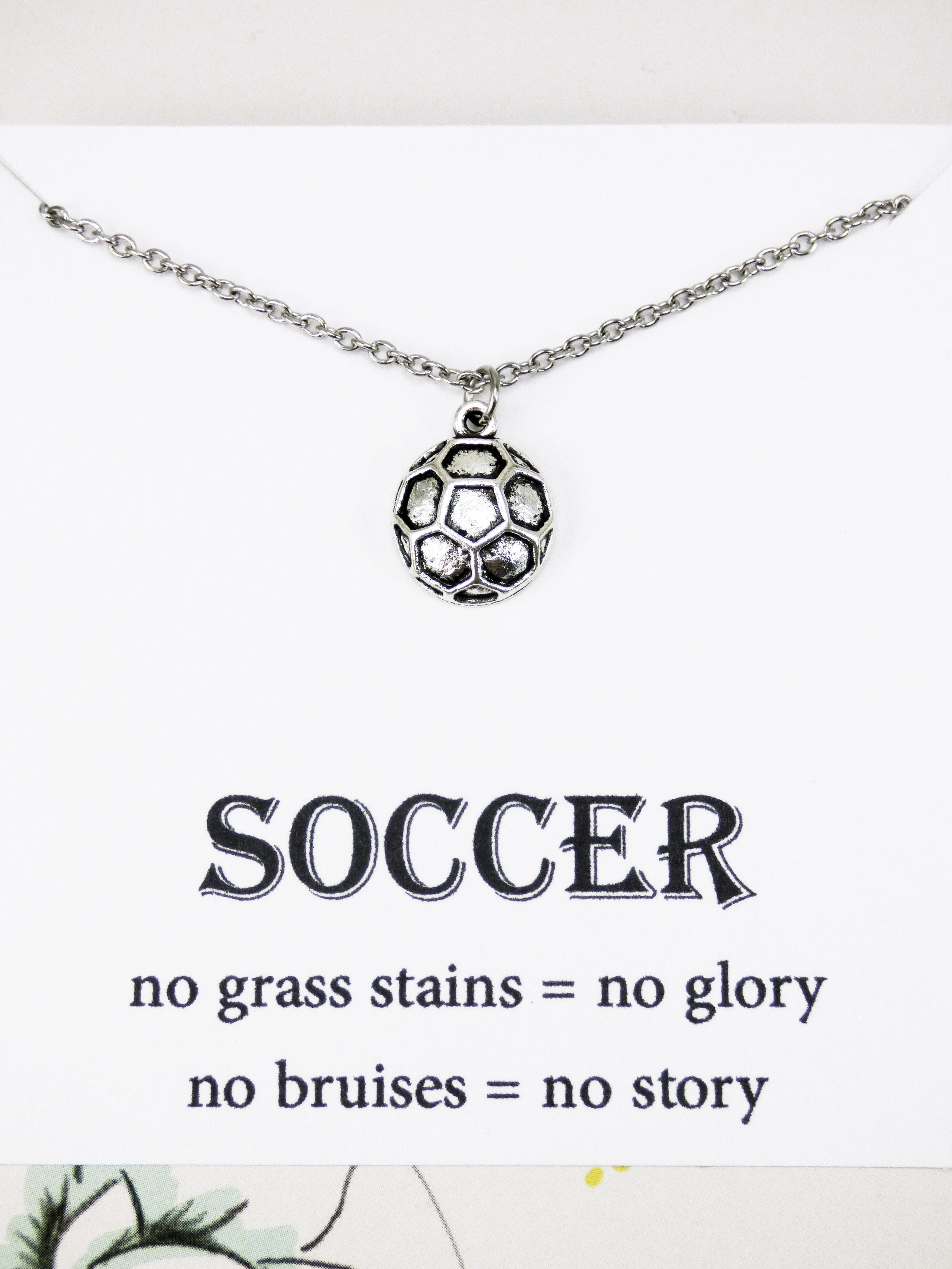 necklace strand and etsy pendant pin black sports ball on double rhinestone kconklinjewelry soccer by