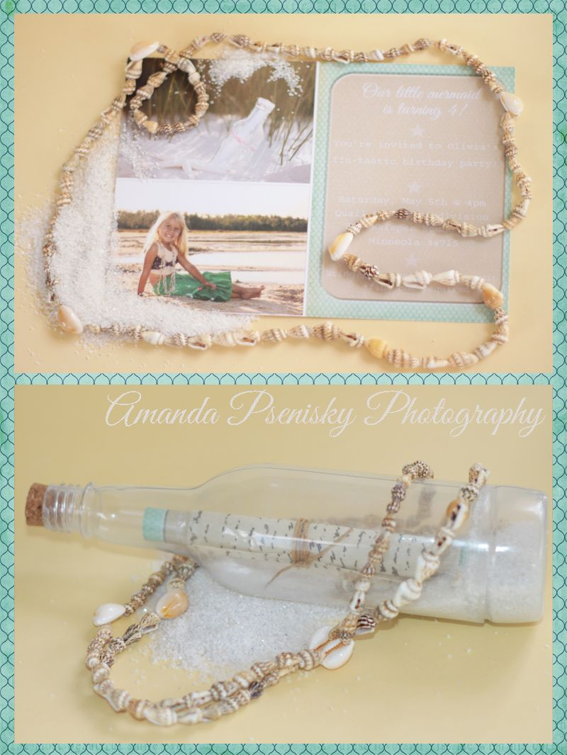 Message in a bottle Mermaid birthday party invitations | My ideas ...