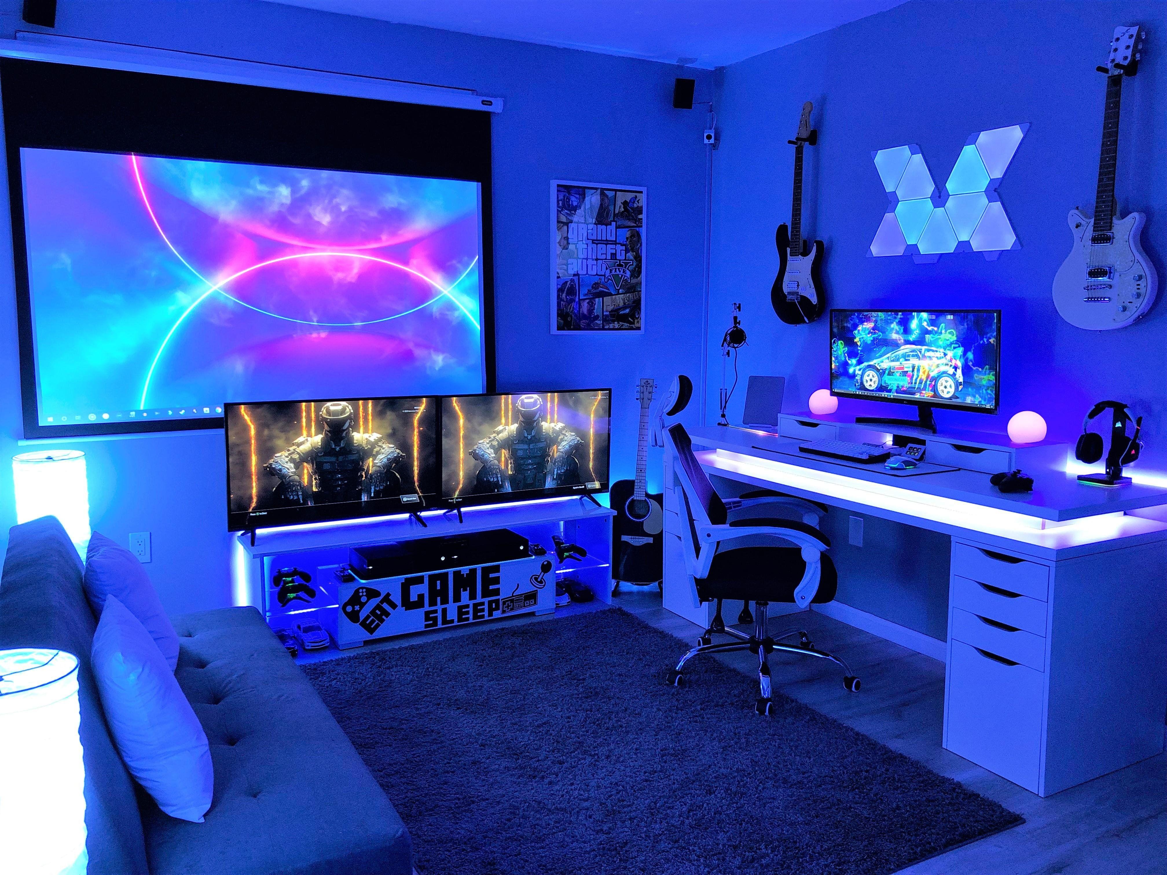 Richi 81 Gaming Room Setup Game Room Design Black Light Room