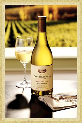 Frei Brothers Reserve Chard 2009 - Russian River Valley. Good! I give it an 8 out of 10. Buttery. 87 points. (Safeway)