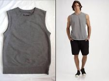 MENS T by ALEXANDER WANG COOL FRENCH SUPREME TERRY MUSCLE GYM SWEATSHIRT SHIRT S