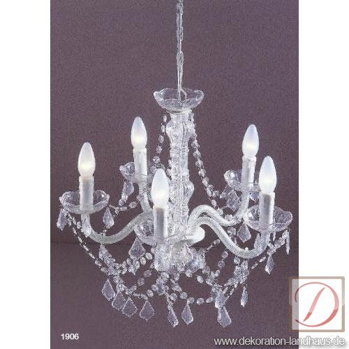 Lampe MONTE CARLO Kunststoff klar B:50cm - Dieser ausgefallene ...
