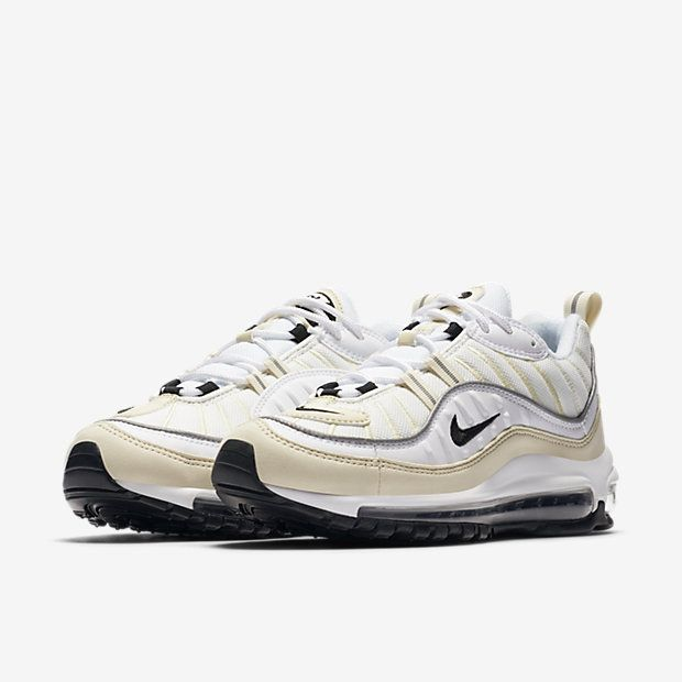 Nike Air Max 98 White Fossil | Chaussures, Chaussure et Sneakers