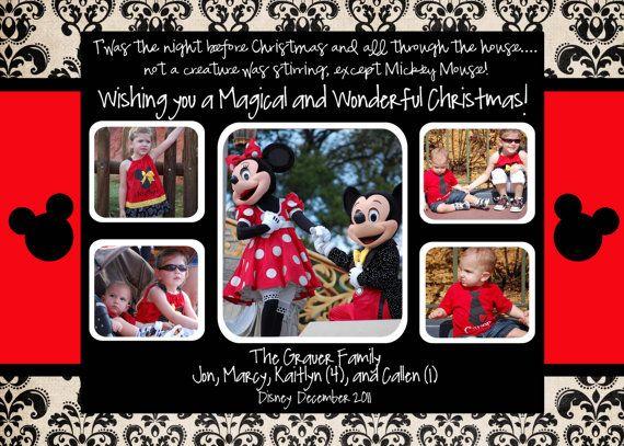 Disney Christmas Card Disney Christmas Cards Disney Cards Disney Holiday