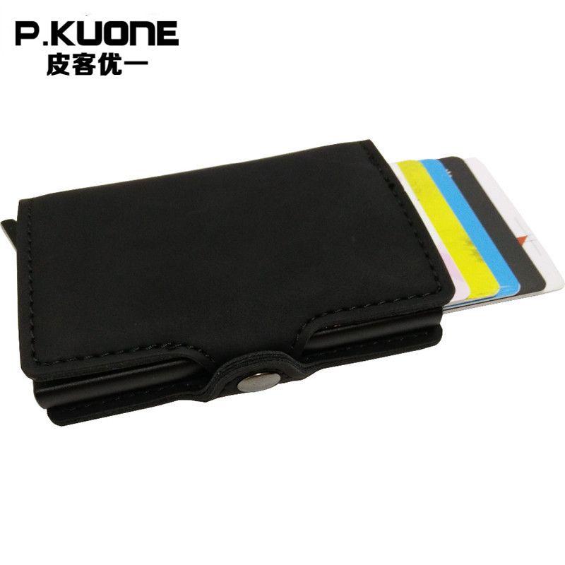 Portemonnee Kalfsleer.P Kuone Rfid Blocking Mini Portemonnee 2017 Beschermen Veilig