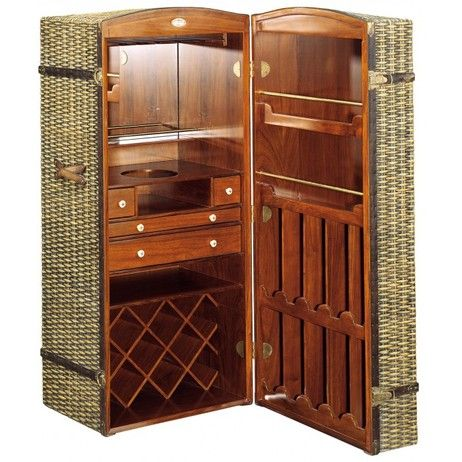 Nairobi Steamer Trunk Bar by Starbay USA | Wine Racking ...