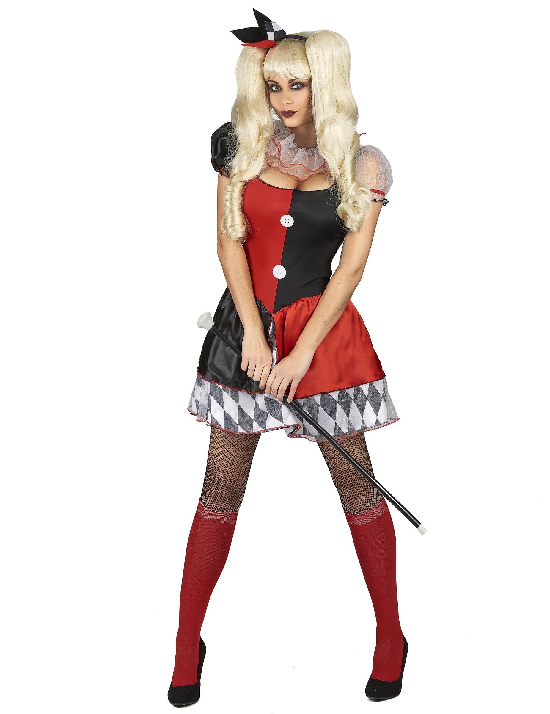 D guisement arlequin rouge et noir femme - Deguisement pour femme enceinte ...