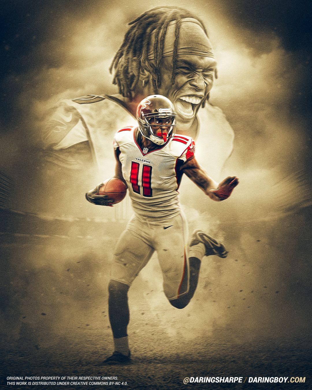 Julio Jones Atlanta Falcons Art Urbain