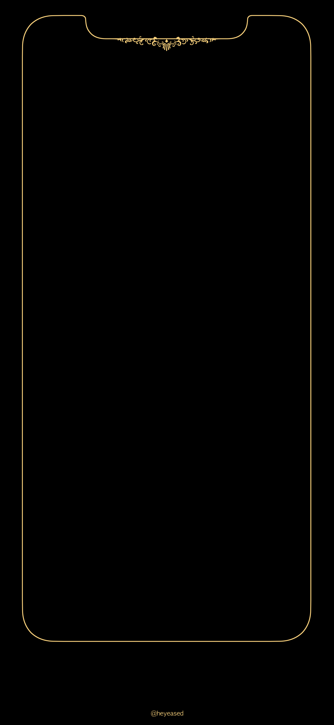 The X Floral Yellow Gold Png 1 301 2 820 Piksel Black Wallpaper Iphone Apple Wallpaper Iphone Pretty Wallpaper Iphone