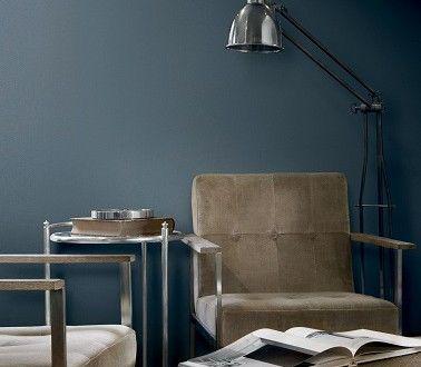 Peinture Gris Bleuté Pour Un Style Industriel Dans Le Salon