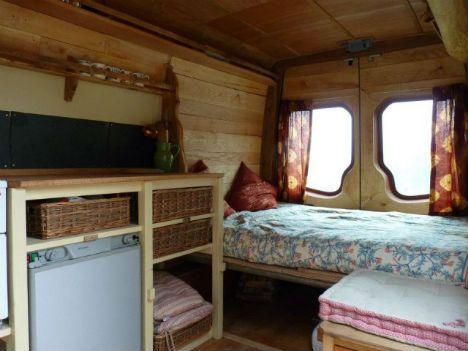 living in a van rustic cozy converted campers designs ideas on dornob - Camper Design Ideas
