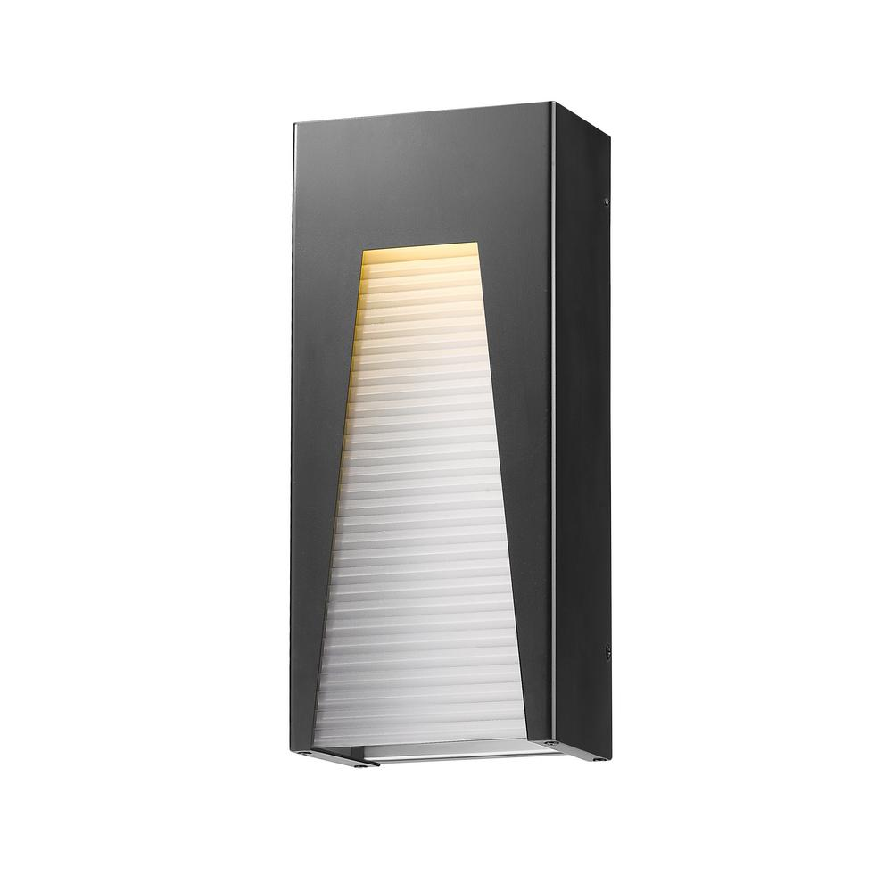 Filament Design Farran 75 Watt Equivalent Outdoor Black Silver Integrated Led Wall Lantern Sconce With Frosted Ribbed Glass Shade Hd Te77517 Outdoor Wall Lighting Outdoor Walls Wall Lantern