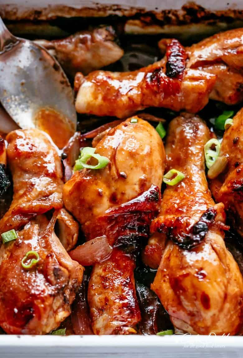 Oven Baked Barbecue Soy Chicken Drumsticks Are So Quick Simple