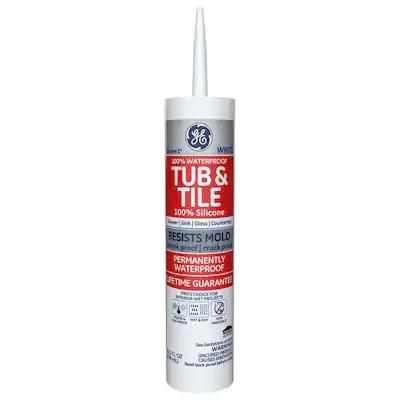 Ge Silicone 1 10 1 Oz White Silicone Caulk At Lowes Com Aisle 7