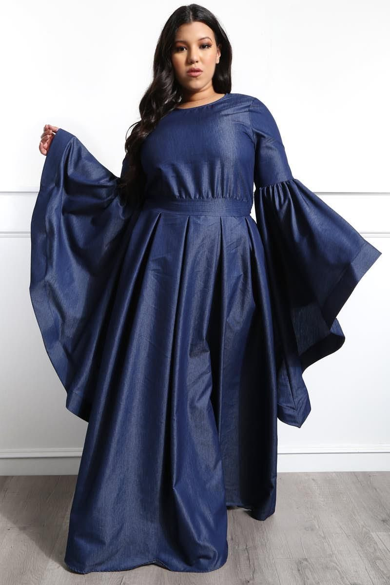 Look like a queen with this lush plus size maxi dress! Made ...