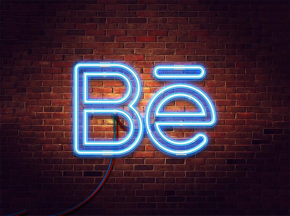 Download Neon Glow Logo Free Mockup Logo Mockup Logo Mockups Psd Free Logo Mockup