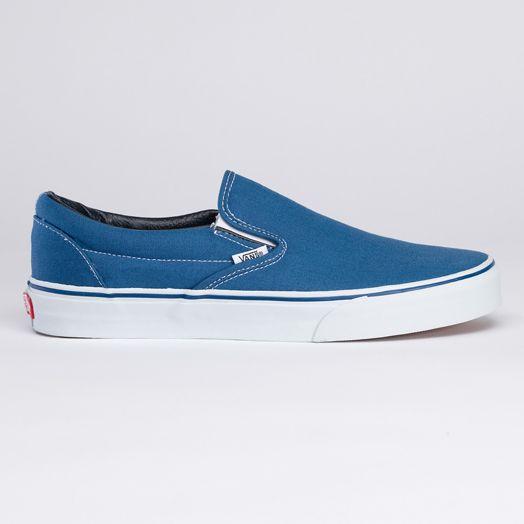Vans classic slip on, Navy shoes, Vans