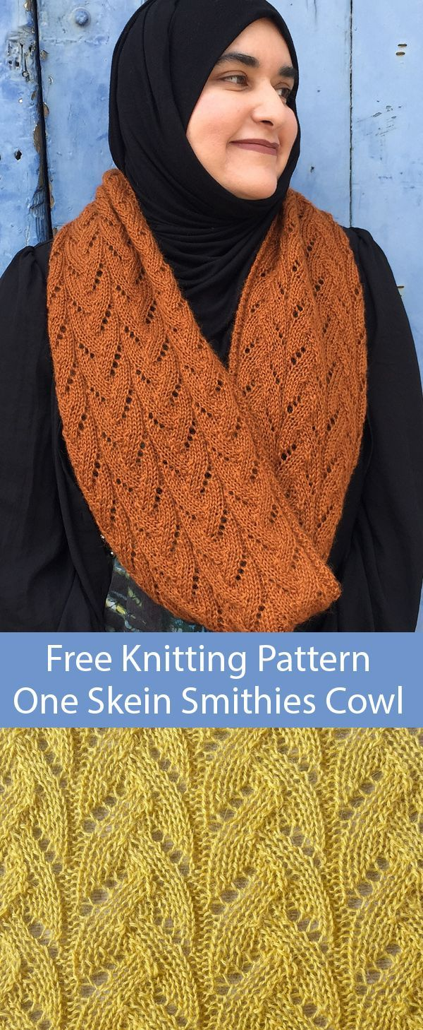 Free Knitting Pattern for One Skein 12 Row Repeat Smithies ...