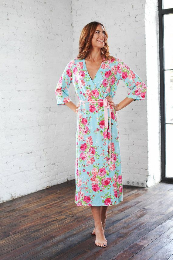 Bridesmaid Robes, Flower Girl Robes, Cotton Kimono Dressing Gown ...