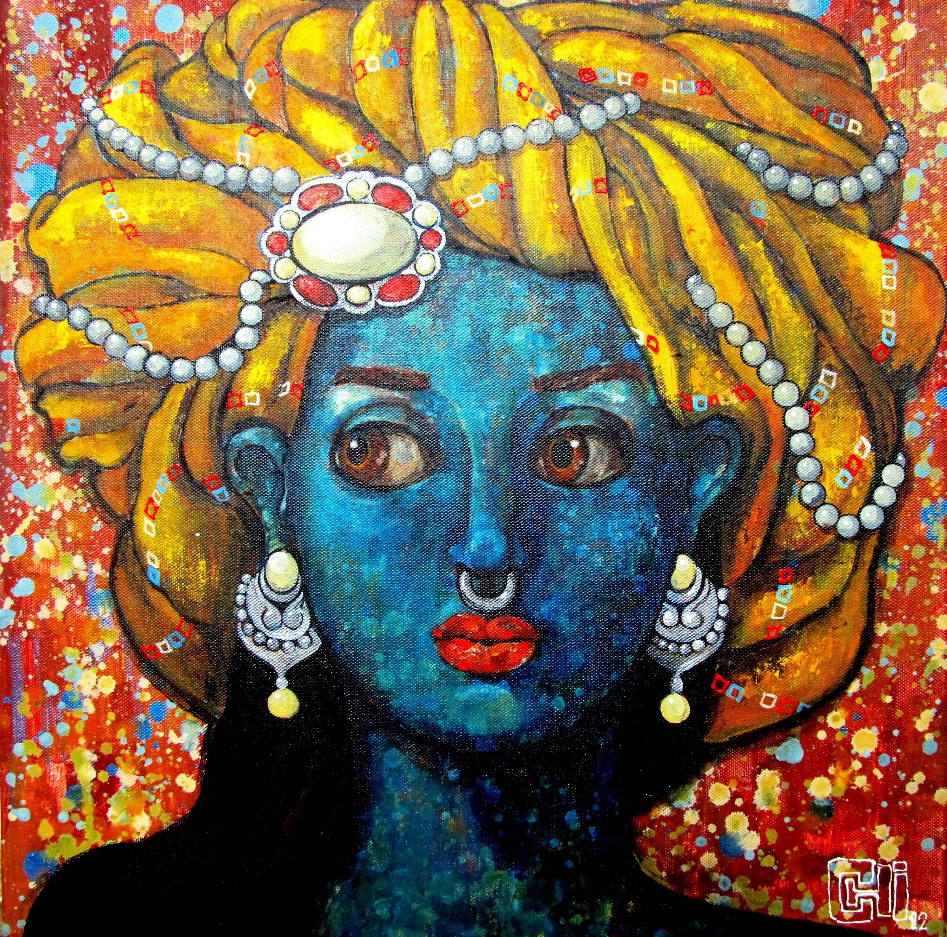 Chica con turbante amarillo - Suruchi Jamkar