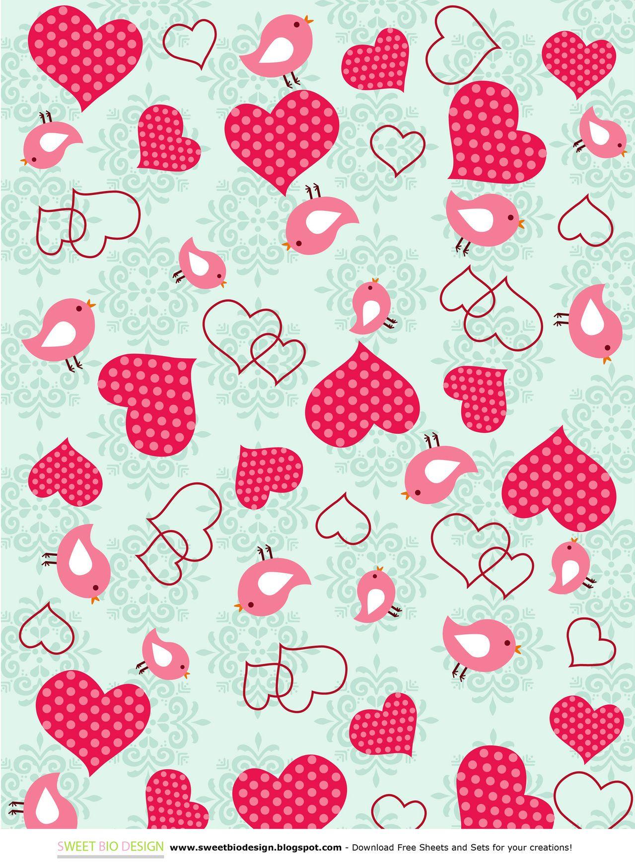 SBDSweet Valentine Set di Carte Sweet Valentine paper Set