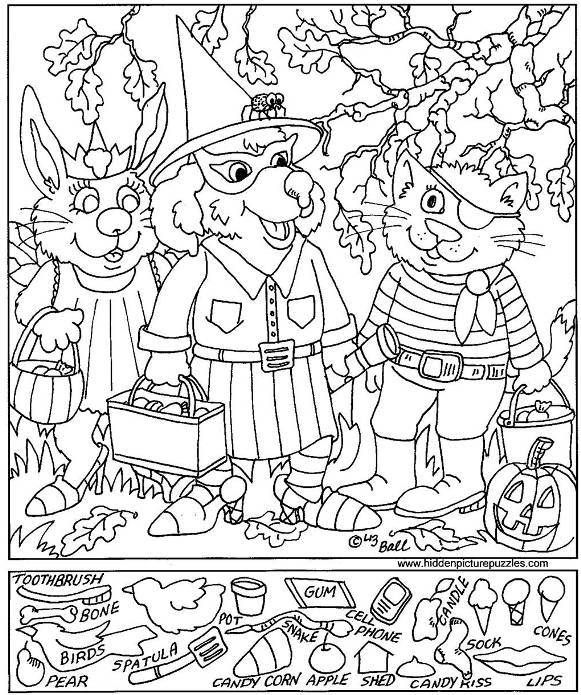 Trick Or Treaters Hidden Picture Puzzles Hidden Pictures Printables Hidden Pictures