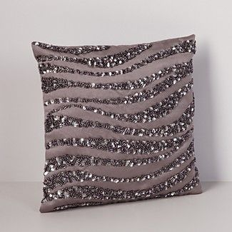 "Donna Karan Modern Classics Haze Crystal Wave Decorative Pillow, 9"" x 9"" 