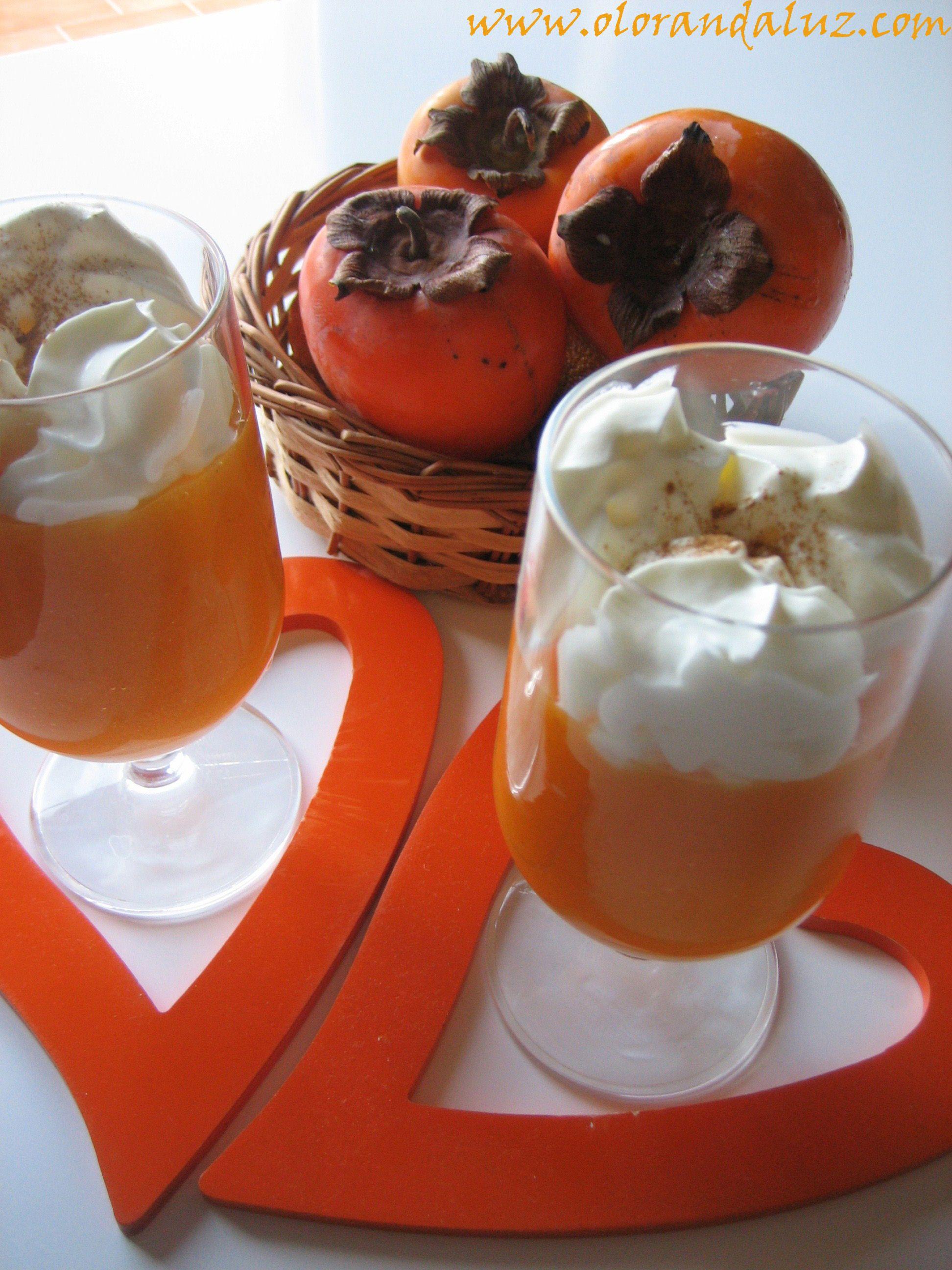 Mousse de caqui http://www.olorandaluz.com/mousse-de-caqui/
