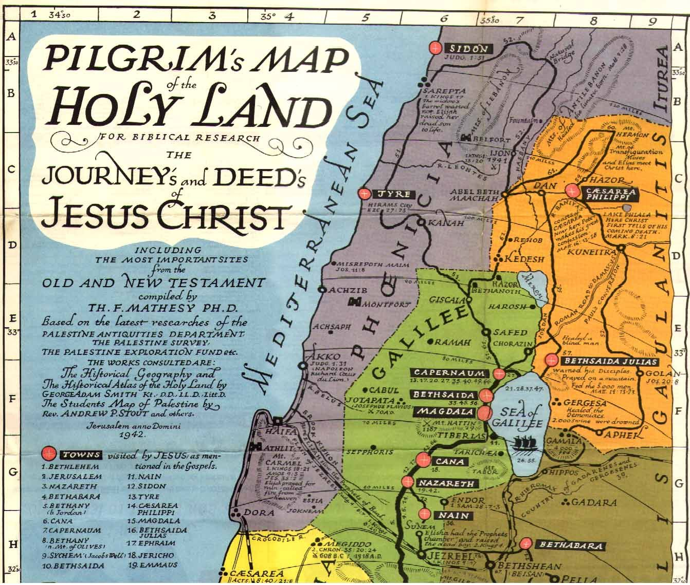 Jesus called His disciples from the fishing villages of Galilee – Jesus Travels Map