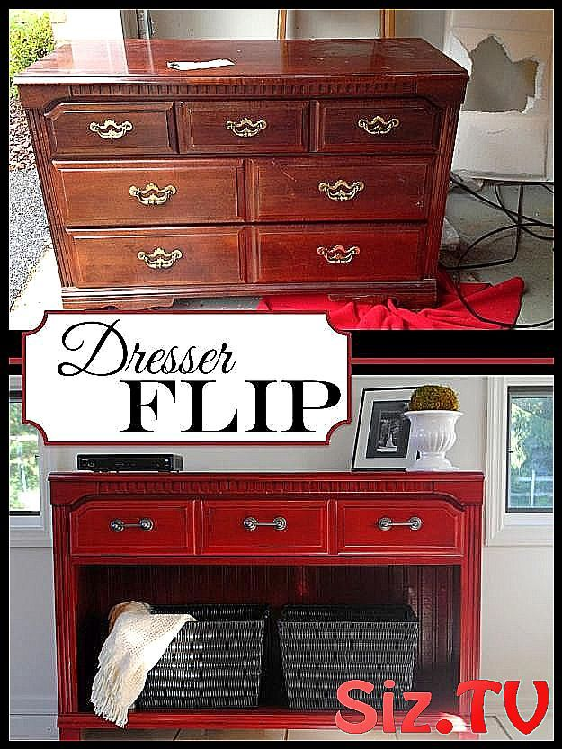 Clever DIY Repurposed Furniture Ideas To Try This Summer Thrifted Dresser to TV Stand Buffet Entrywa
