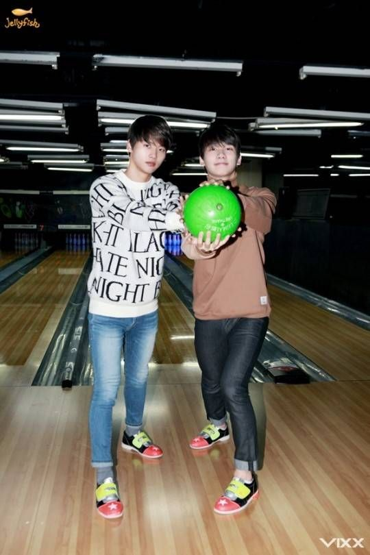 Check Out These Photos Of Vixx Showing Off Their Bowling Skills Vixx Photo Bowling