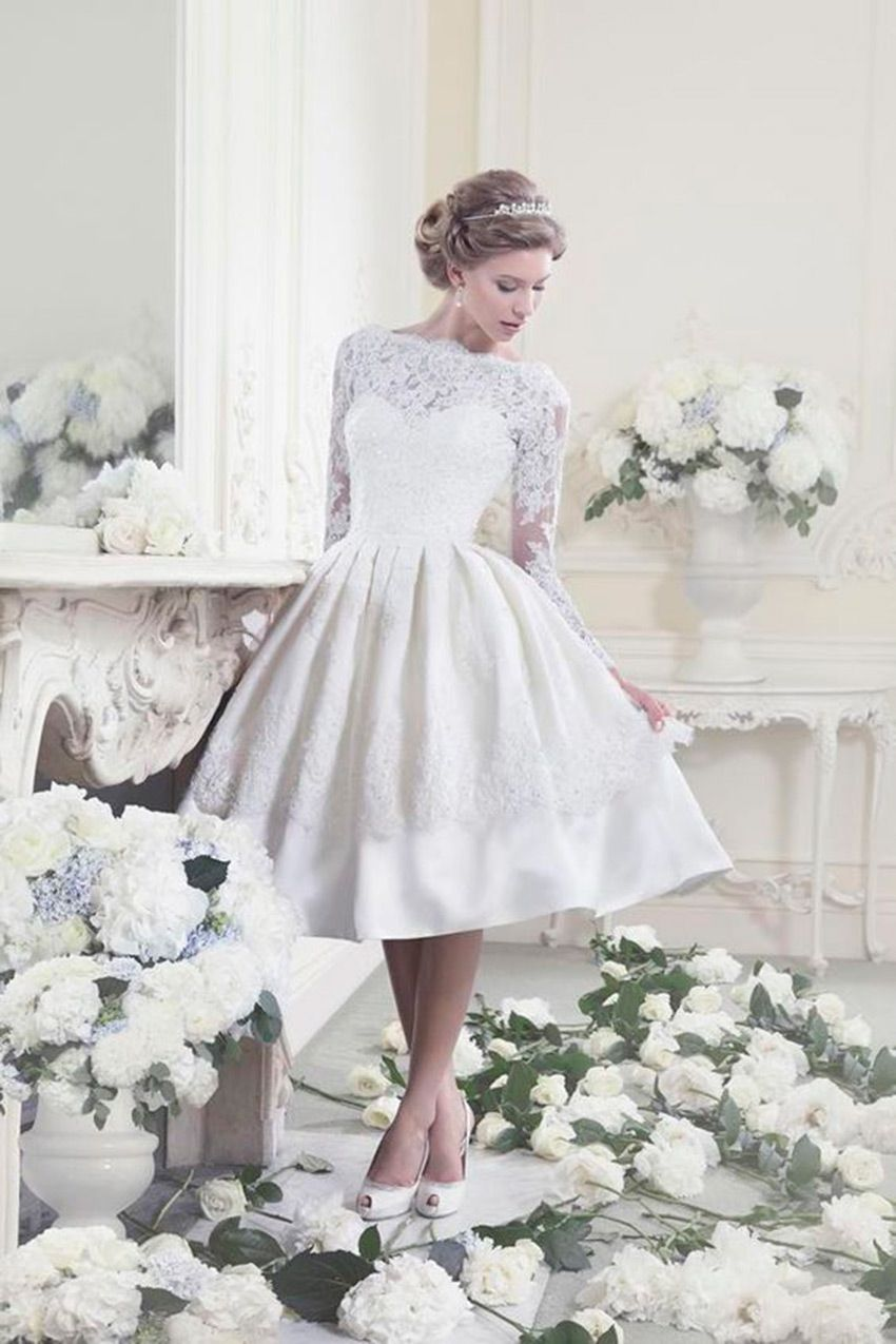 vestido de novia 50's