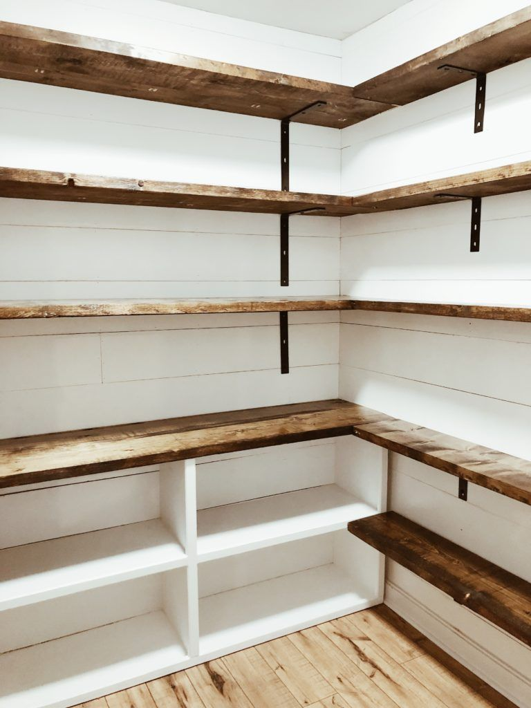 Farmhouse Pantry renovation #pantryshelving