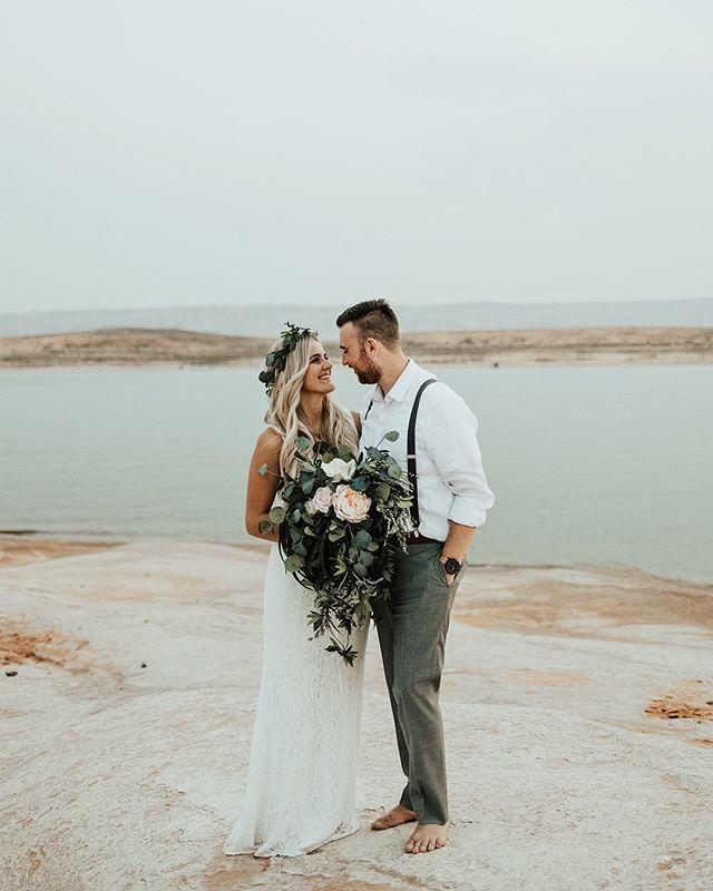 Lake Wedding Ideas: Katie Griff Photo: Lake Powell Wedding