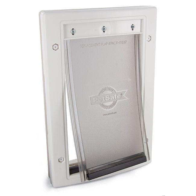 Petsafe Plastic Doors This Durable Plastic Door Can Be Painted To Match Any Decor And A Snap On Closing Panel Is Included To Wall Pet Door Pet Door Cat Door