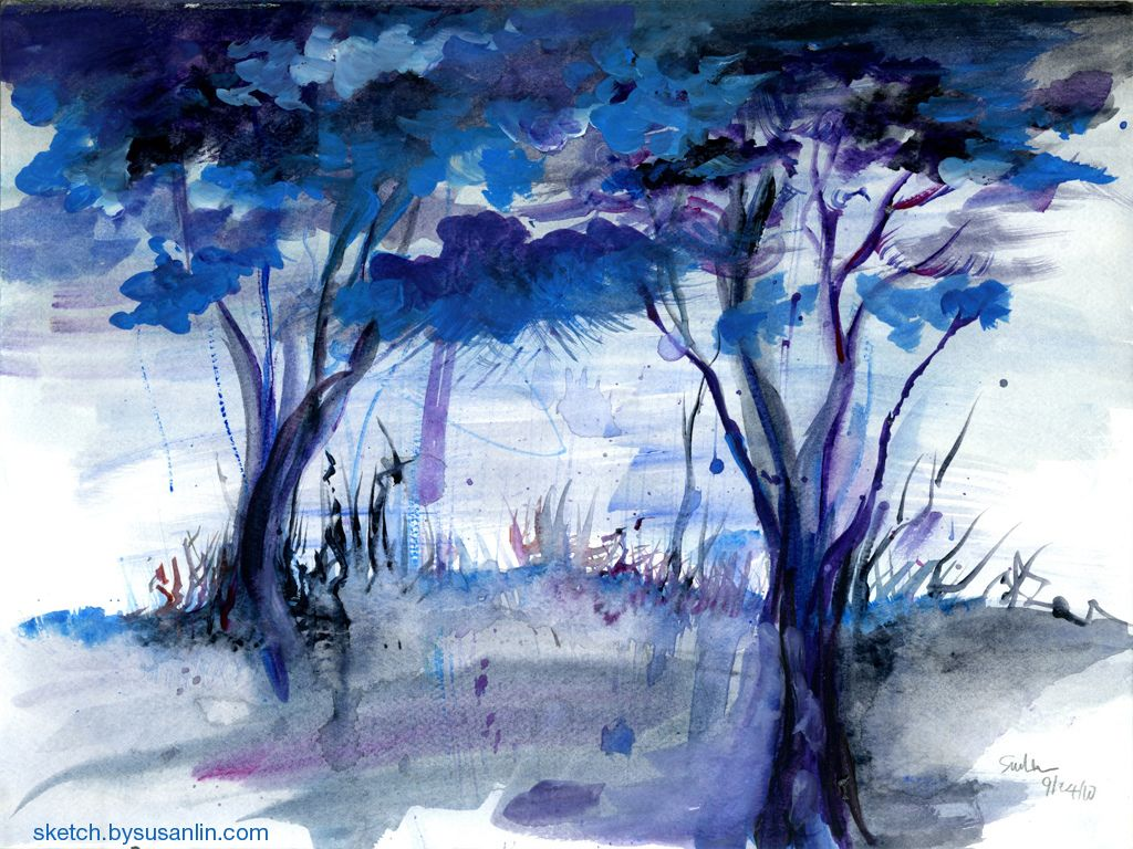 Game with watercolor - Indie Backgrounds Trees For Soot Soot Indie Game Developing This Semester And