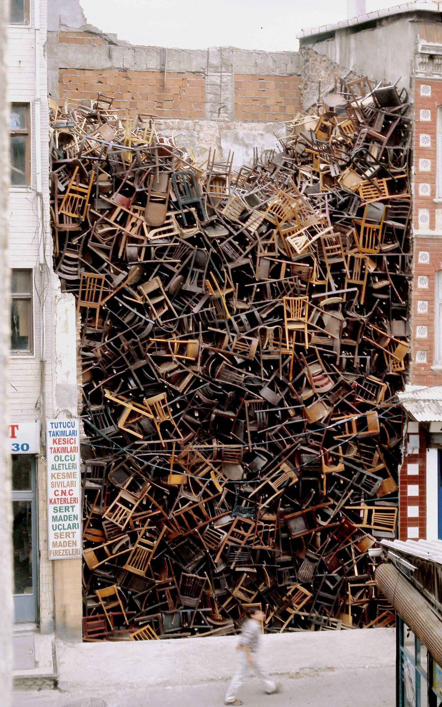 Stories On Design Chair Installations Yellowtrace In 2020 Art Chair Doris Salcedo Public Art
