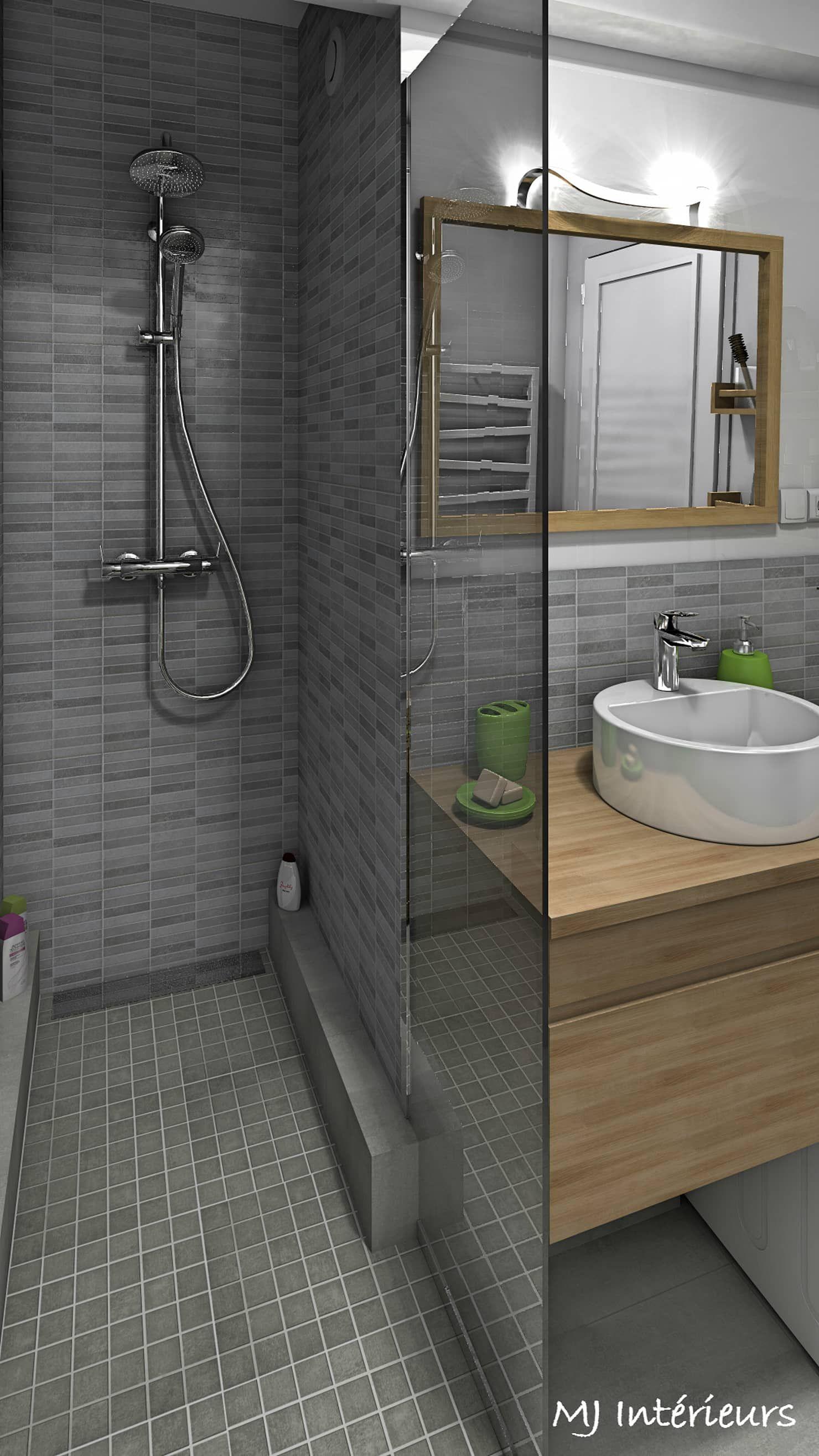 Une Douche A L Italienne A Remplace La Baignoire Salle De Bain Moderne Par Mj Interieurs Moderne Homify Idee Salle De Bain Salle De Bains Moderne Salle De Bain