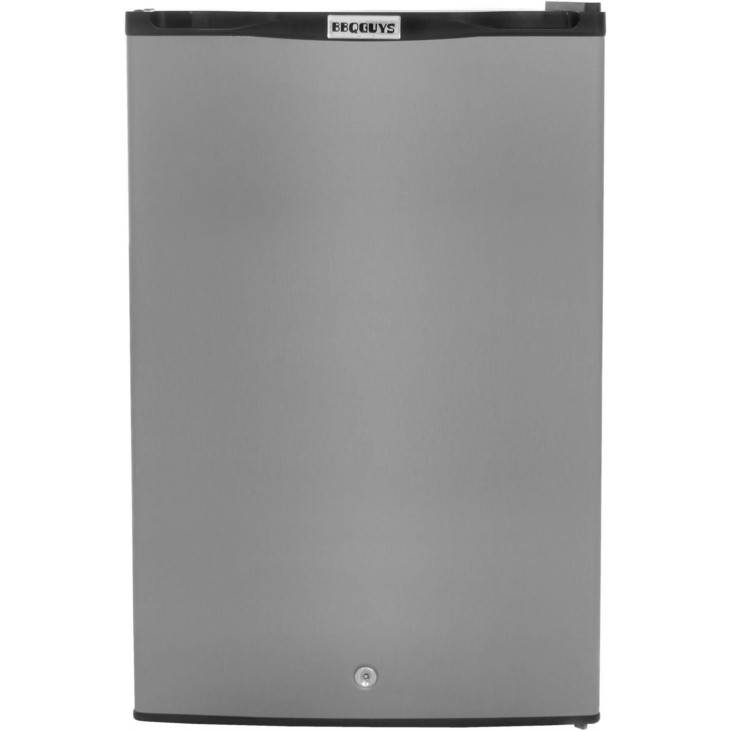 Ft. Capacity Stainless Steel Compact Refrigerator With Locking Door