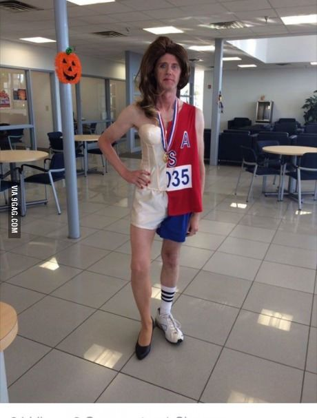 Dressed up as Bruce and Caitlyn Jenner simultaneously. | Sports ...