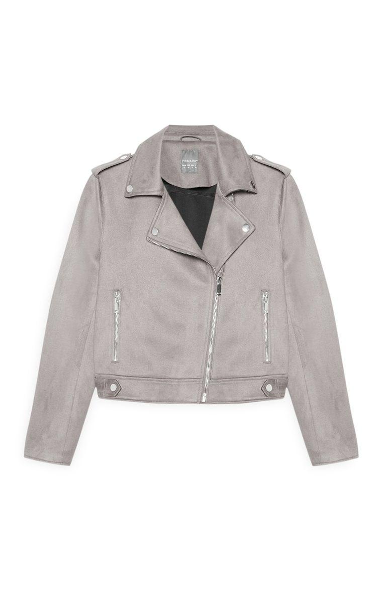 original elegant shoes special section Grey Suede Biker Jacket   Stitch fix in 2019   Fashion ...