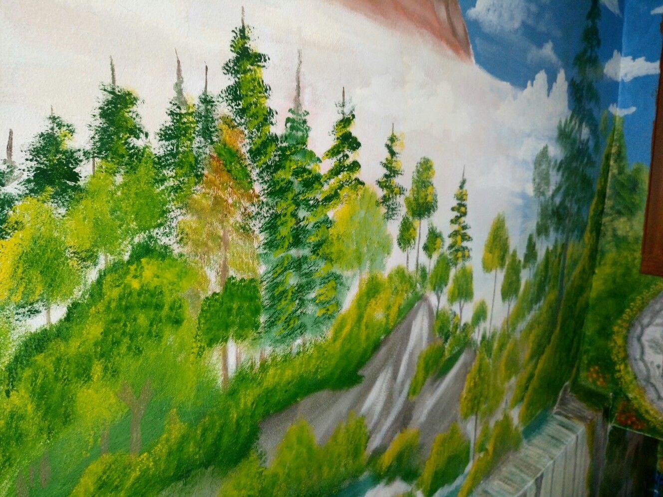 Manzara çizim Boyama Duvarboyama çizimleri Painting Ve Art