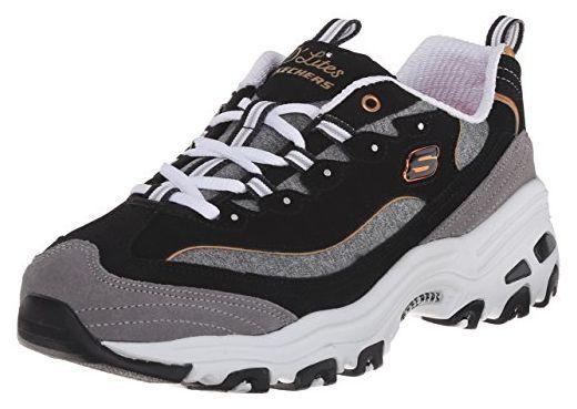 SKECHERS D'Lites-Me Time Damen Sneaker schwarz/grau, Größe:39