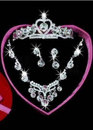 Classic Royal Silver Rhinestone Alloy Silver Plating Wedding Jewelry Set - Wedding Jewelry - Accessories