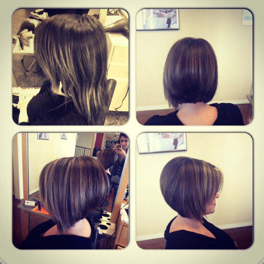Before And After Angled Bob | angled bob with purple color ...