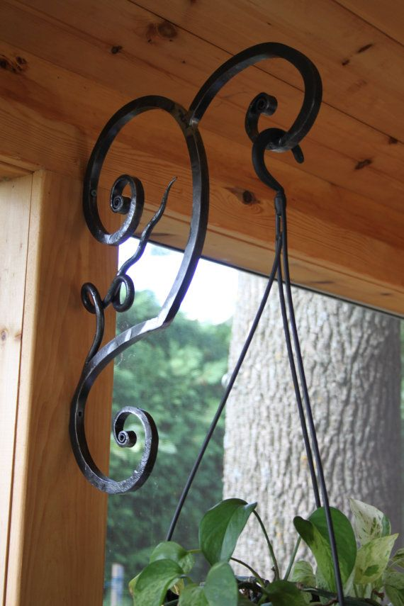 Hand Forged Plant Hanger By Amazingironcreations On Etsy 60 00