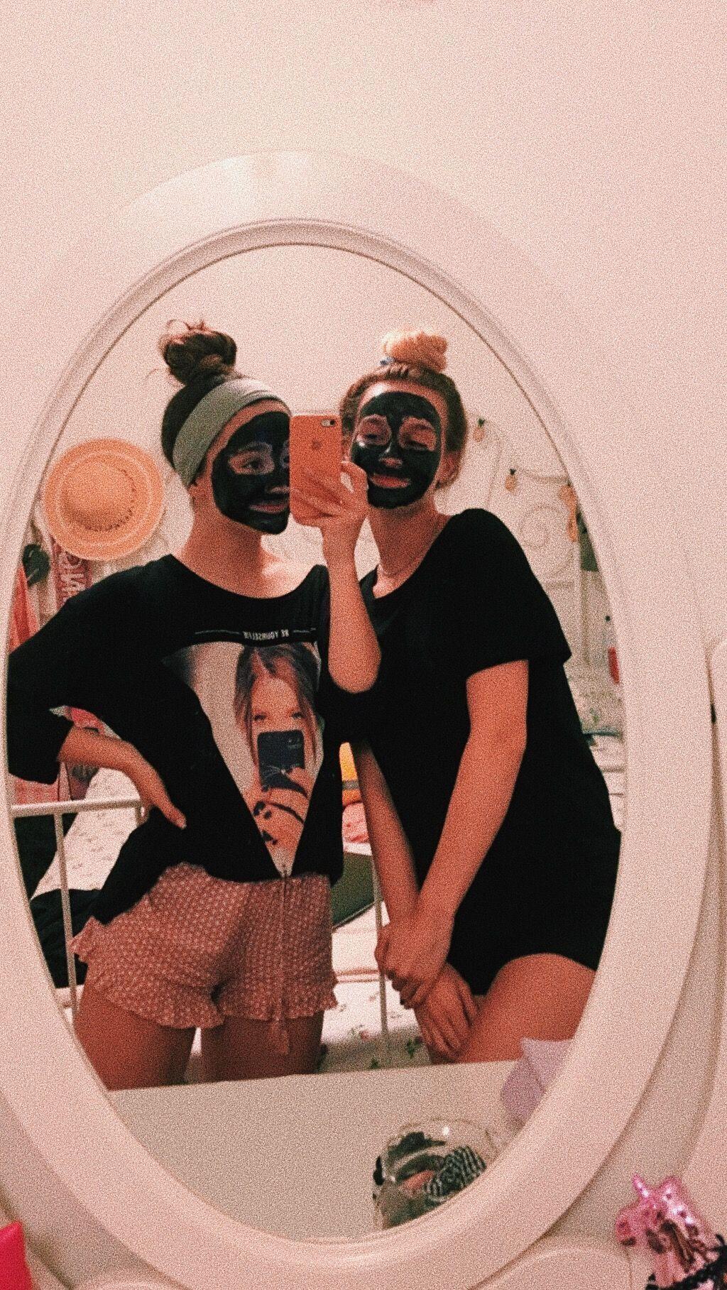 Photo of face mask time ;) #vscogirl we felt kinda vsco girls ;) #bestfriends #vsco #vsco…