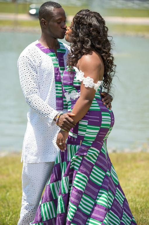 Ghanaian couple | African clothing, African attire, African print ...